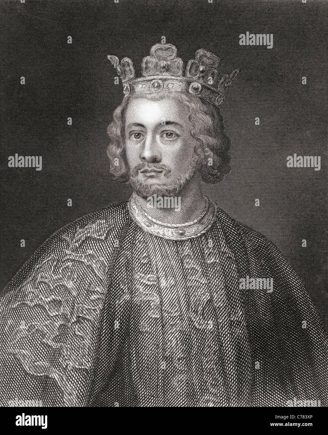 John, 1166 – 1216, aka John Lackland. King of England. - Stock Image