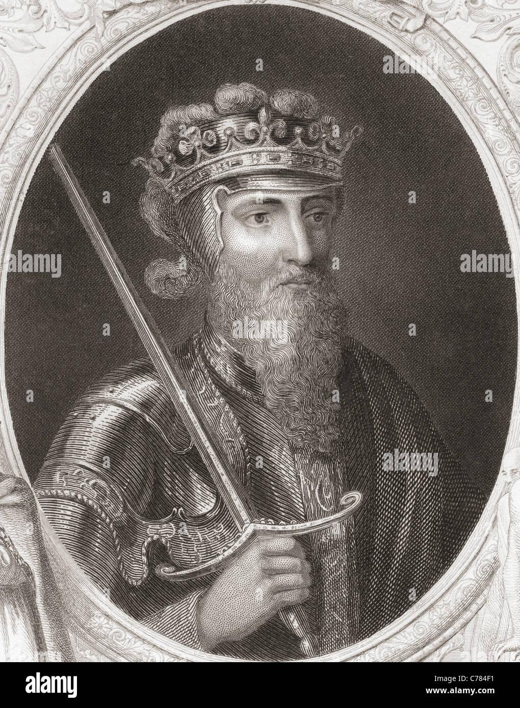 Edward III, 1312 – 1377. King of England. - Stock Image