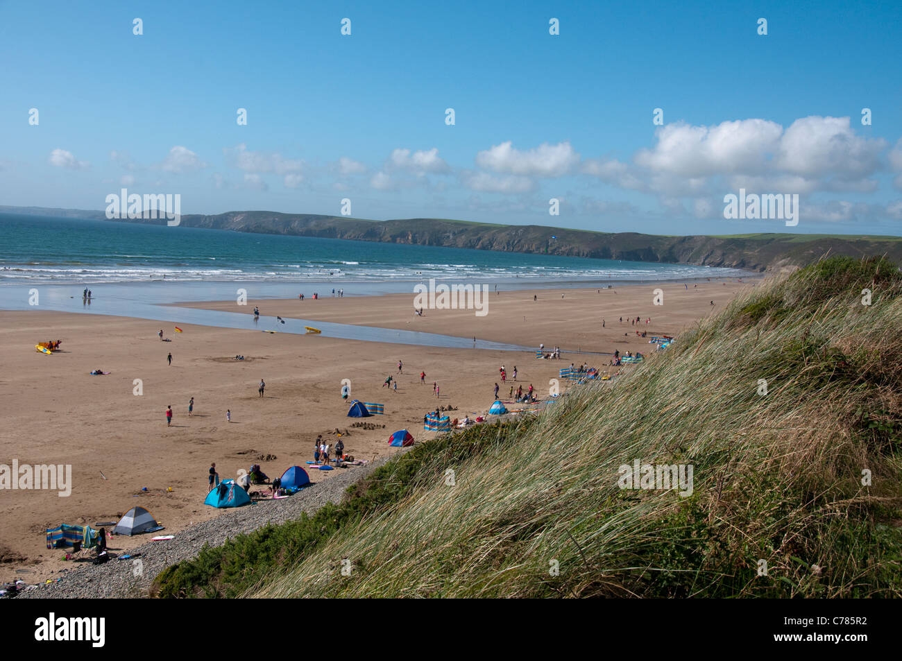 Newgale Beach in Pembrokeshire, Wales UK Stock Photo