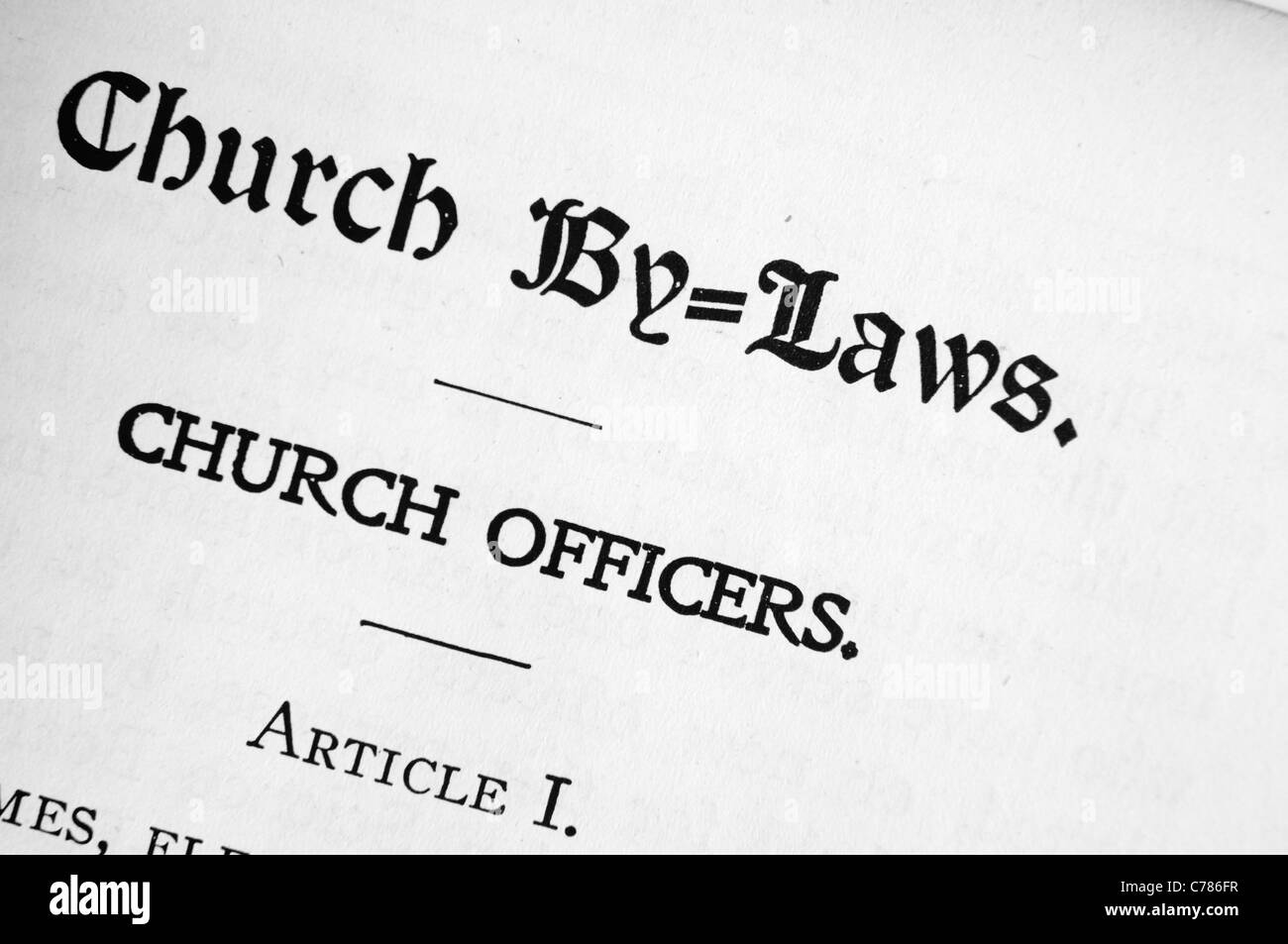 christian science church by laws in the church manual by mary baker rh alamy com the united church manual history of the church manual lds