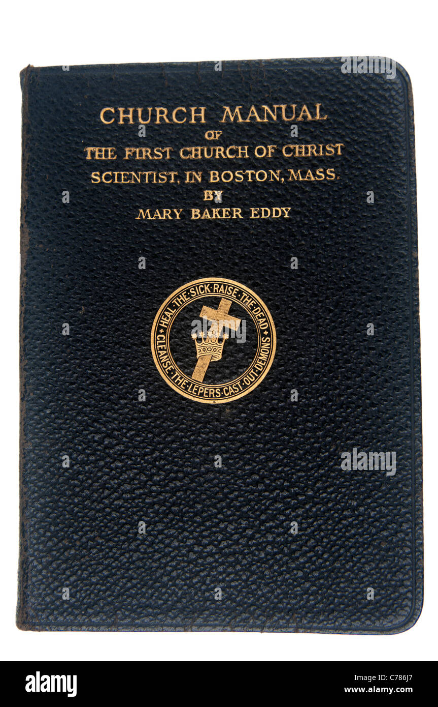 Church Manual from the Church of Jesus Scientist - Stock Image