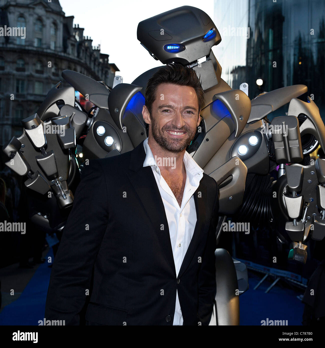 Actor Hugh Jackman attends the UK Premiere of Real Steel at The Empire, Leicester Square, London on 14th September - Stock Image