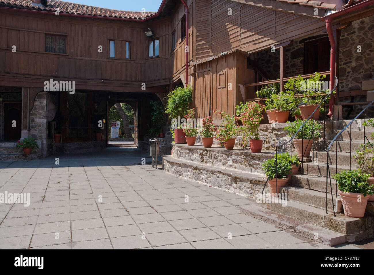 Taxiarchis monestry, Lesbos, Lesvos, Greece, - Stock Image