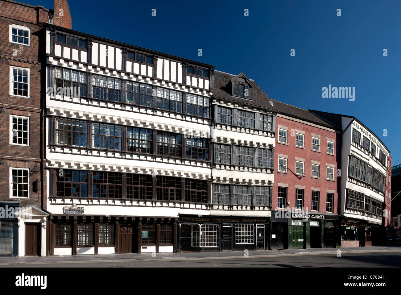 Bessie Surtees House and other merchants' houses, Sandhill, Newcastle upon Tyne - Stock Image