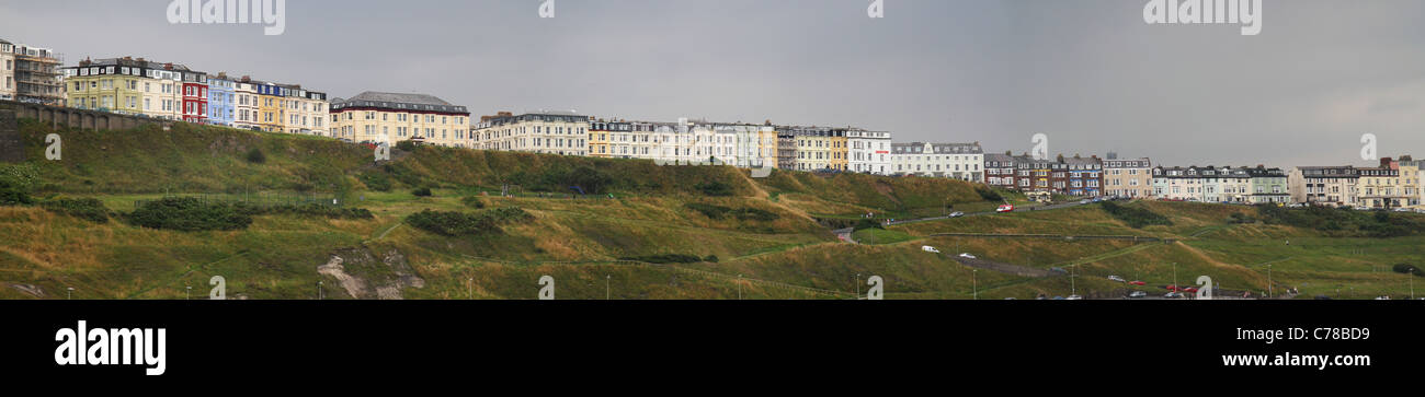 Panoramic view of hotels in Scarborough north bay. - Stock Image