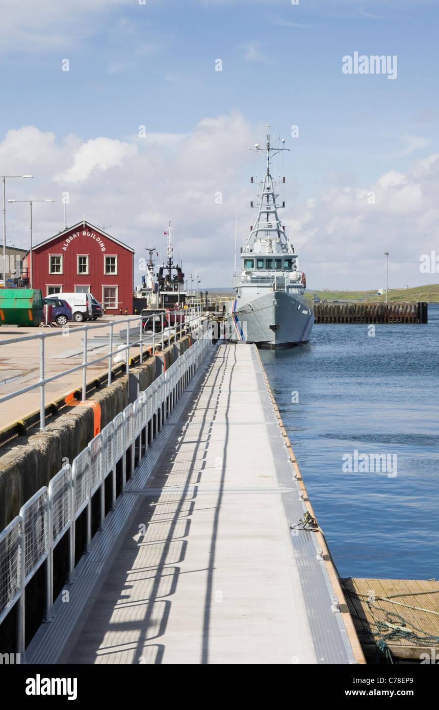 Lerwick Shetland Islands Scotland UK Border Agency HM Customs and Excise Patrol cutter HMC Vigilant at Albert Wharf. - Stock Image