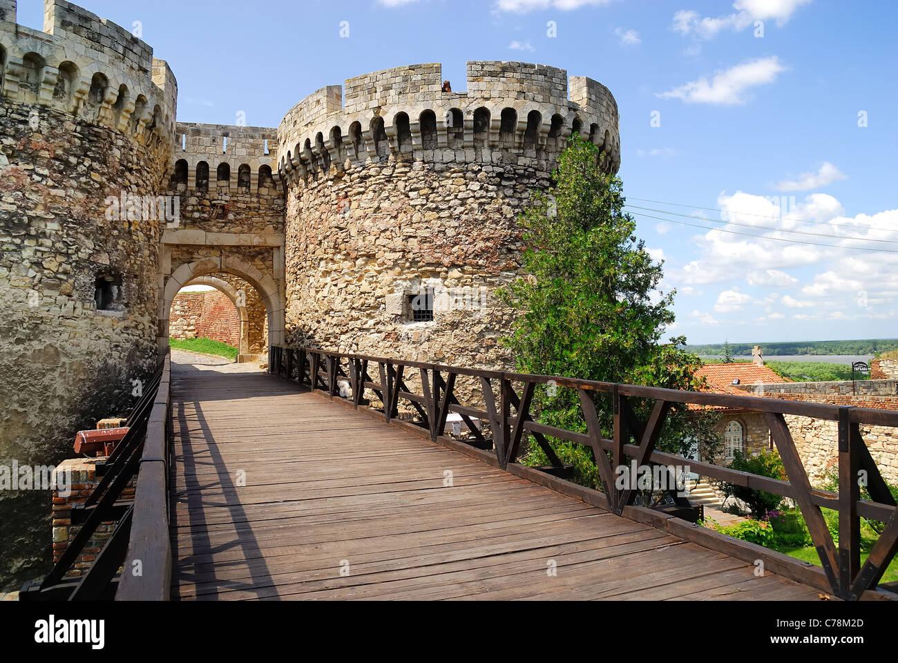 Serbia, Belgrade : Kalemegdan fortress. - Stock Image