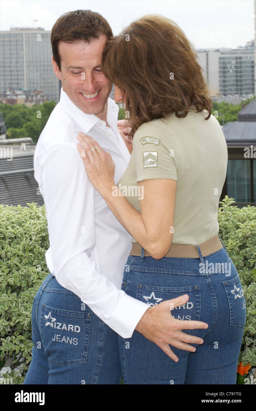 Anton Du Beke and Carol Vorderman winners of 2011 rear of the year - Stock Image