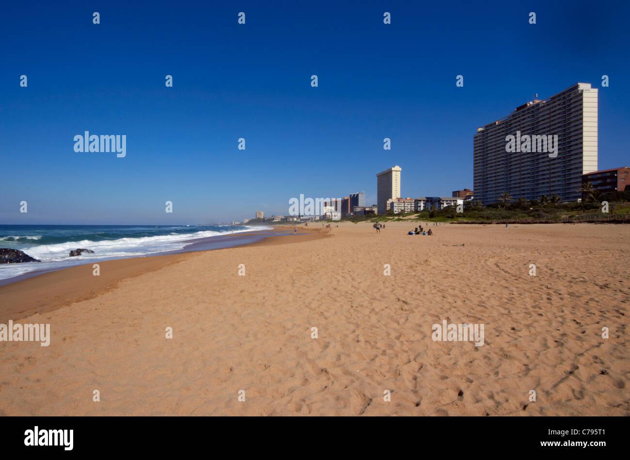 Beach at Amanzimtoti, KwaZulu-Natal, South Africa. Stock Photo