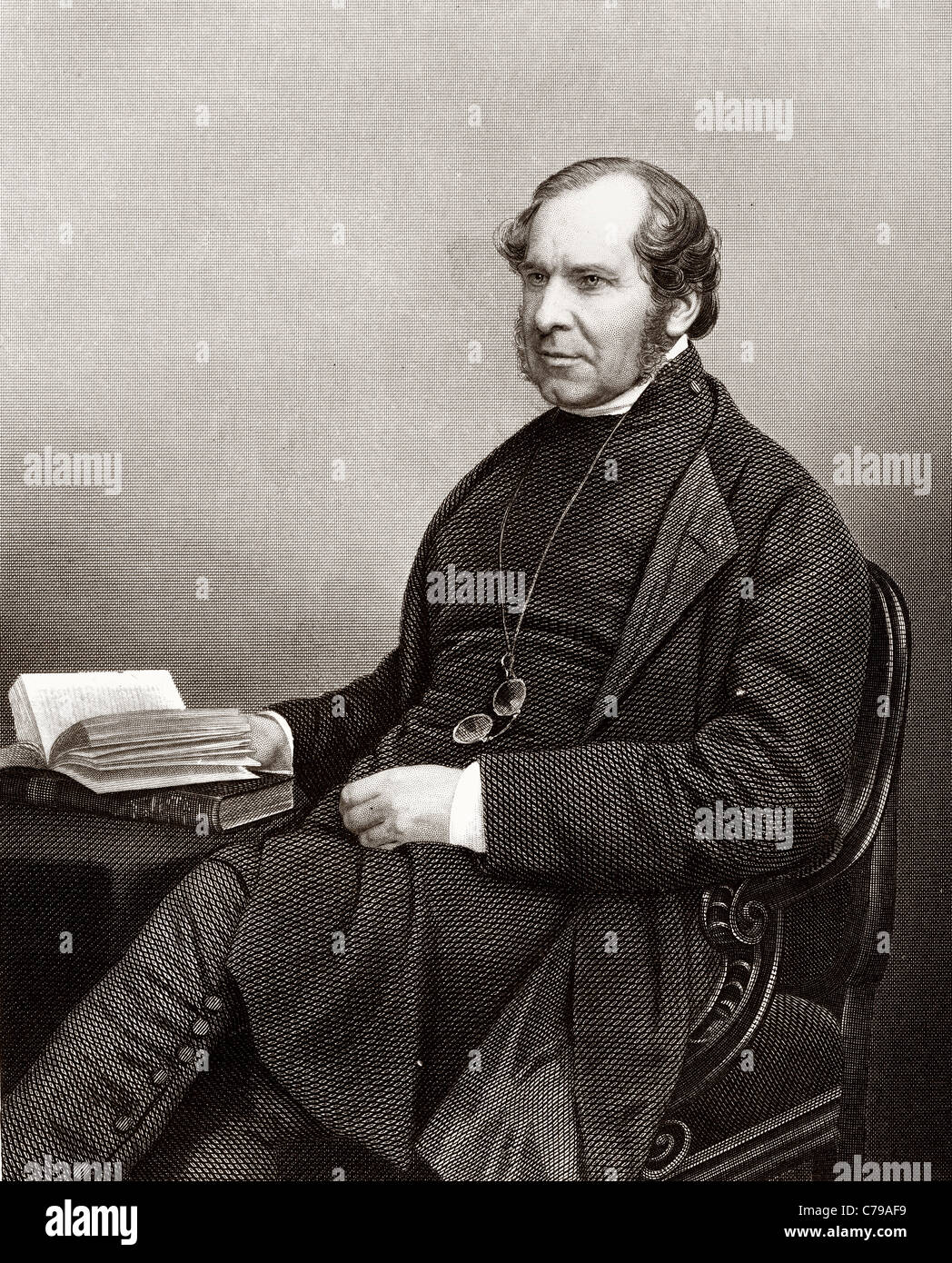 George Anthony Denison, 1805 - 1896. Church of England priest and archdeacon. - Stock Image