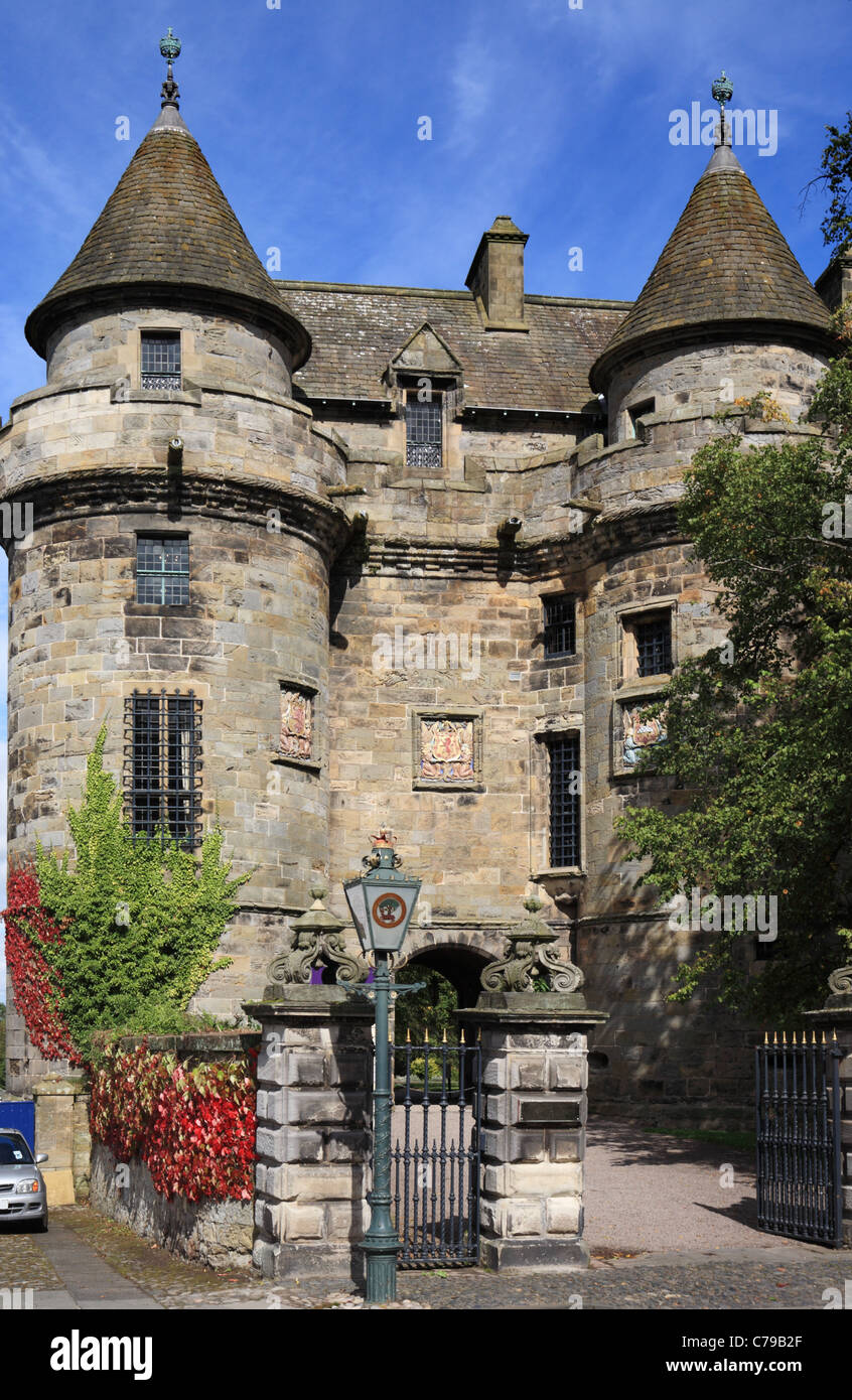 Falkland Palace a 16th century renaissance building built by Kings James IV and James V of Scotland - Stock Image