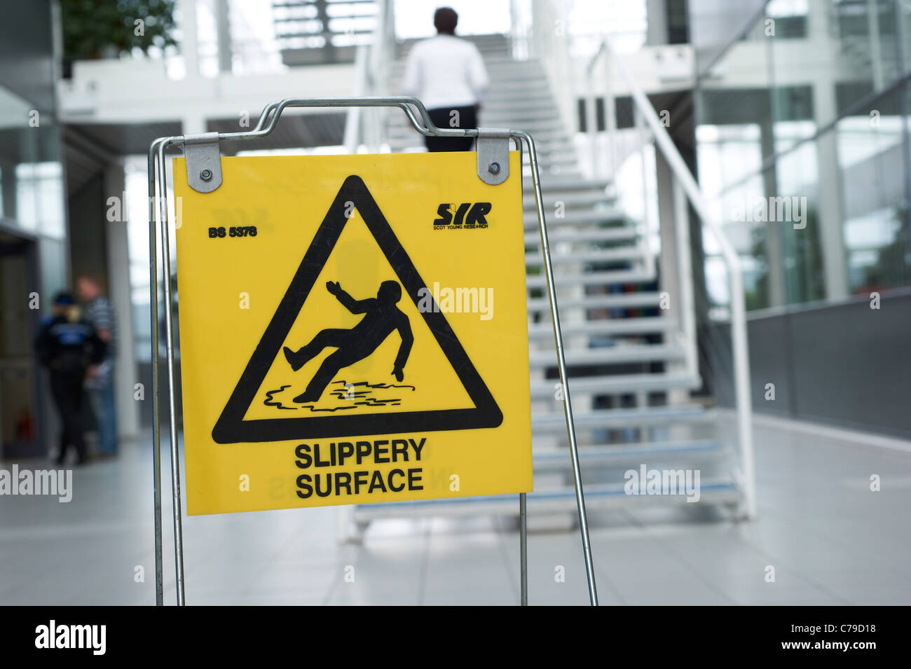slippery surface - Stock Image
