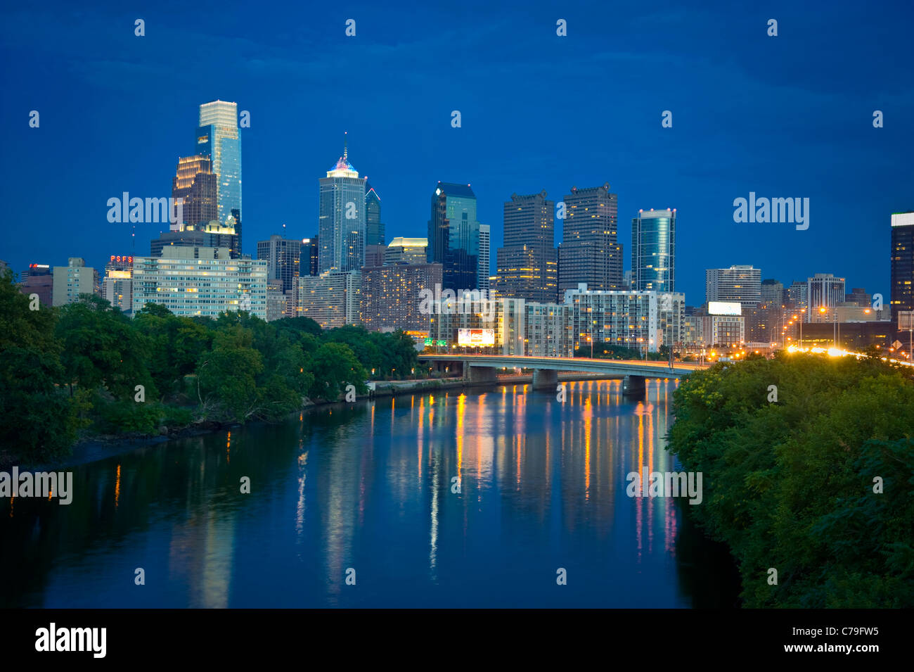 Philadelphia Skyline Cityscape - Stock Image