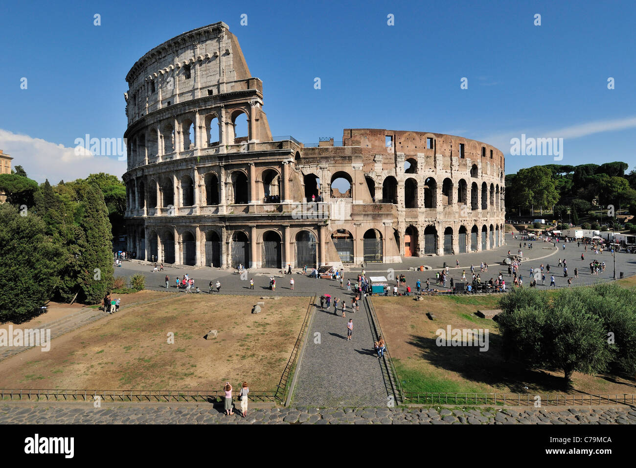 Rome. Italy. The Colosseum. - Stock Image