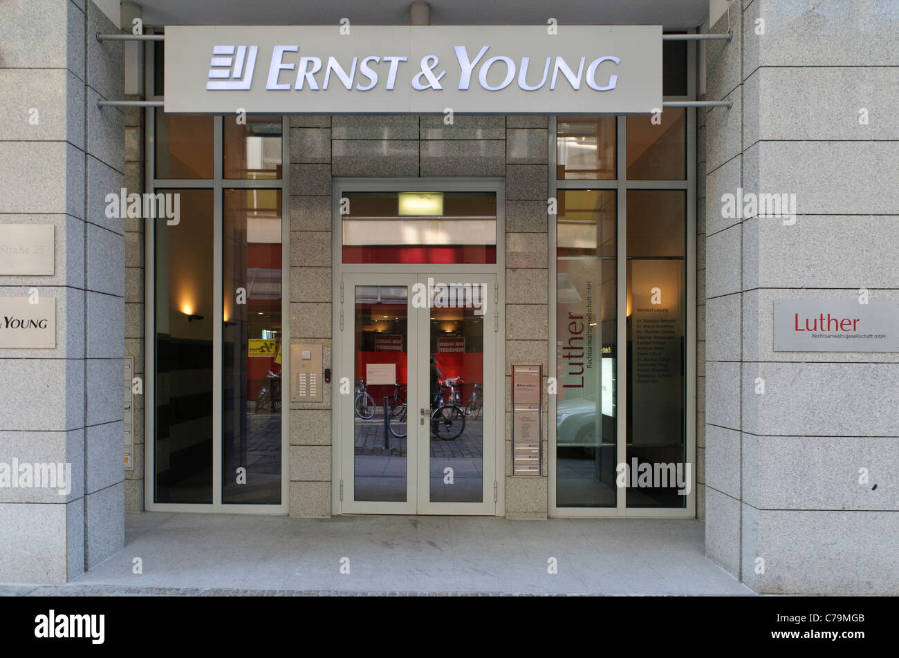 Ernst & Young branch, Leipzig, Saxony, Germany, Europe - Stock Image