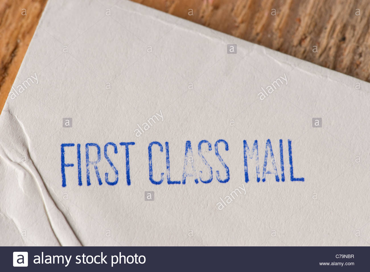 First class mail envelope - Stock Image