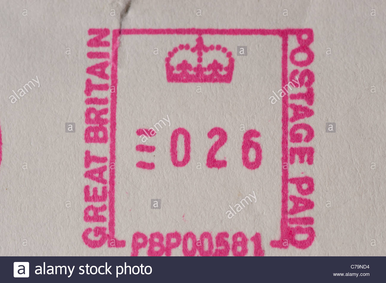 Postage Paid Great Britain - Stock Image