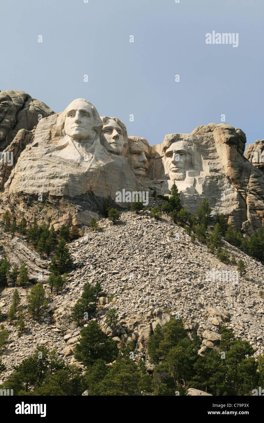 vertical image of Mount Rushmore, black hills, South Dakota Stock Photo