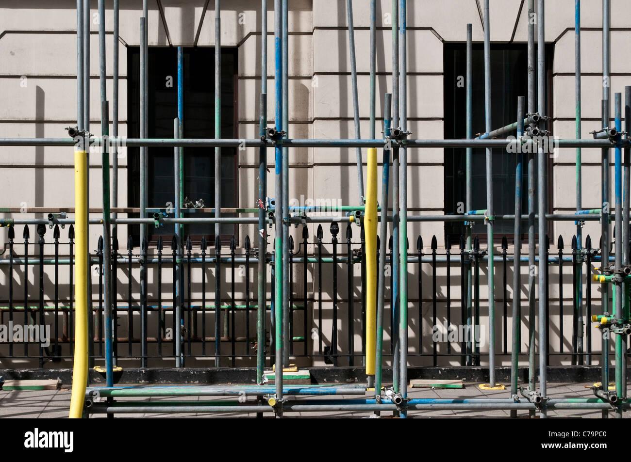 Scaffolding, London, WC1, UK - Stock Image