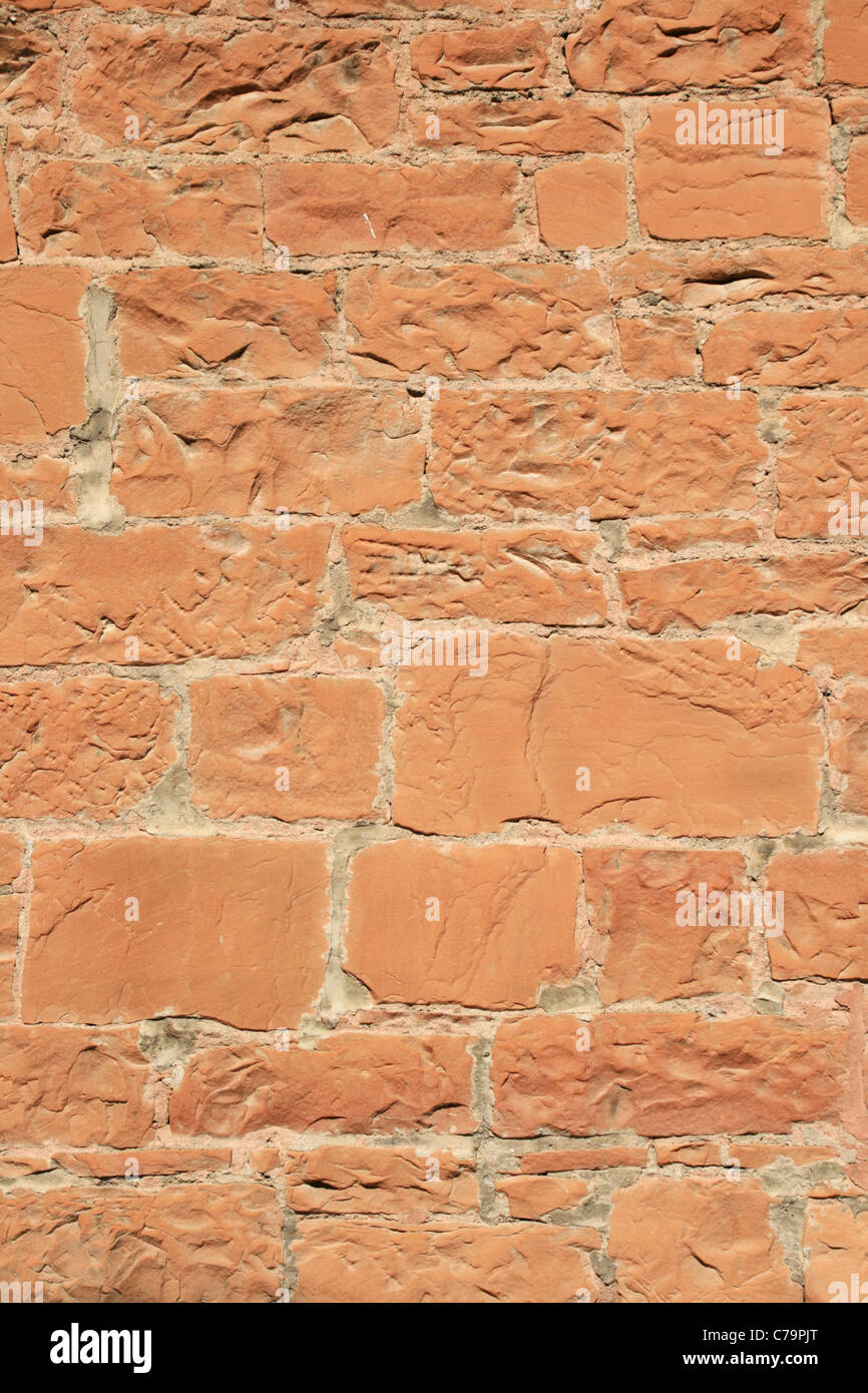 old red sandstone wall - Stock Image
