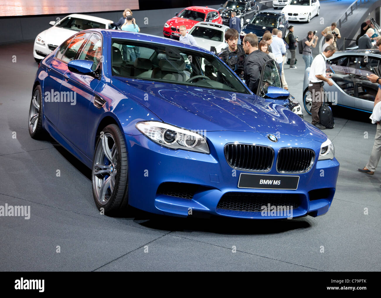 New BMW M5 on the IAA 2011 International Motor Show in Frankfurt am Main, Germany - Stock Image