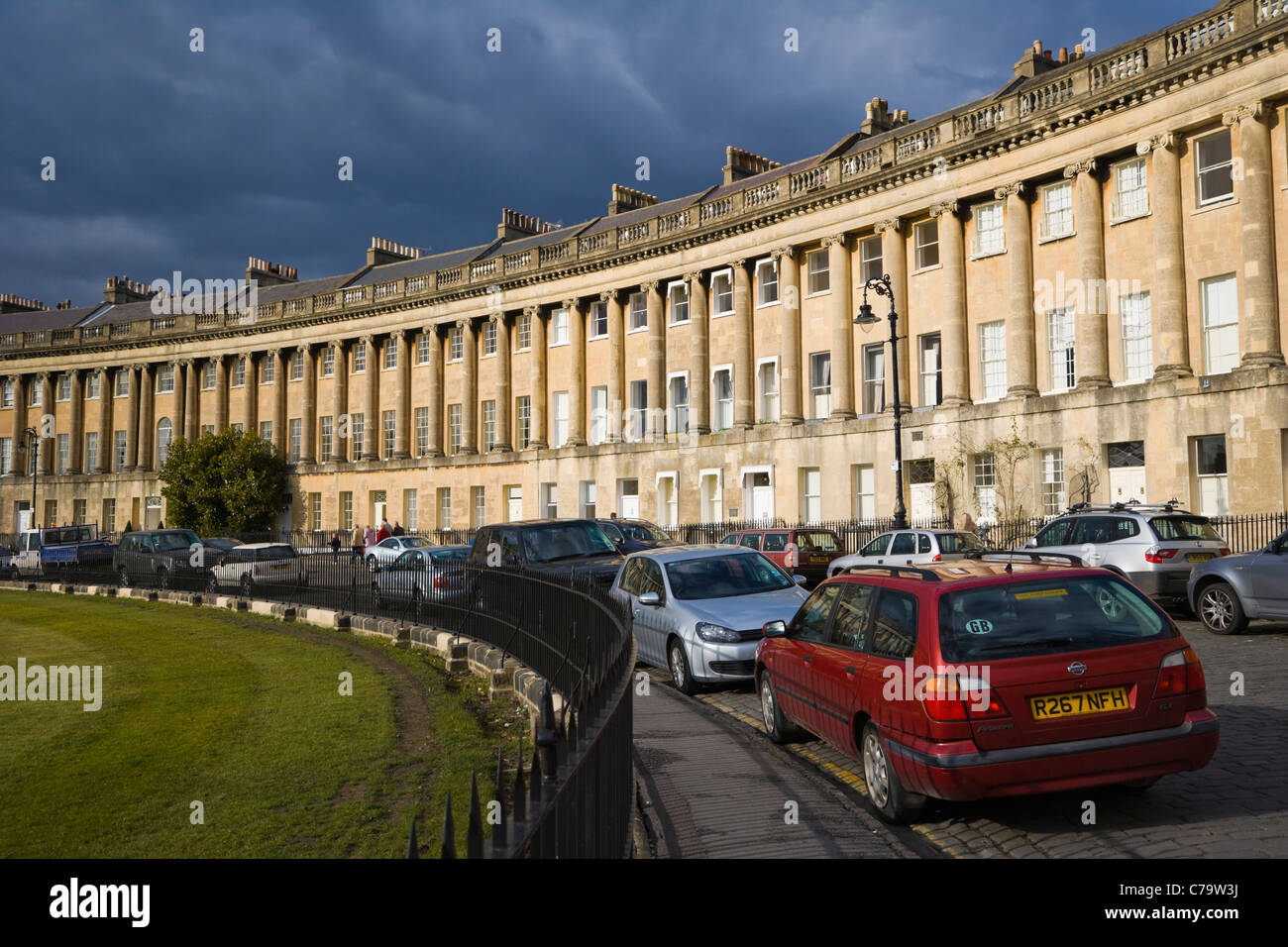 Royal Crescent by John Wood The Younger, Bath, Somerset, England, UK - Stock Image