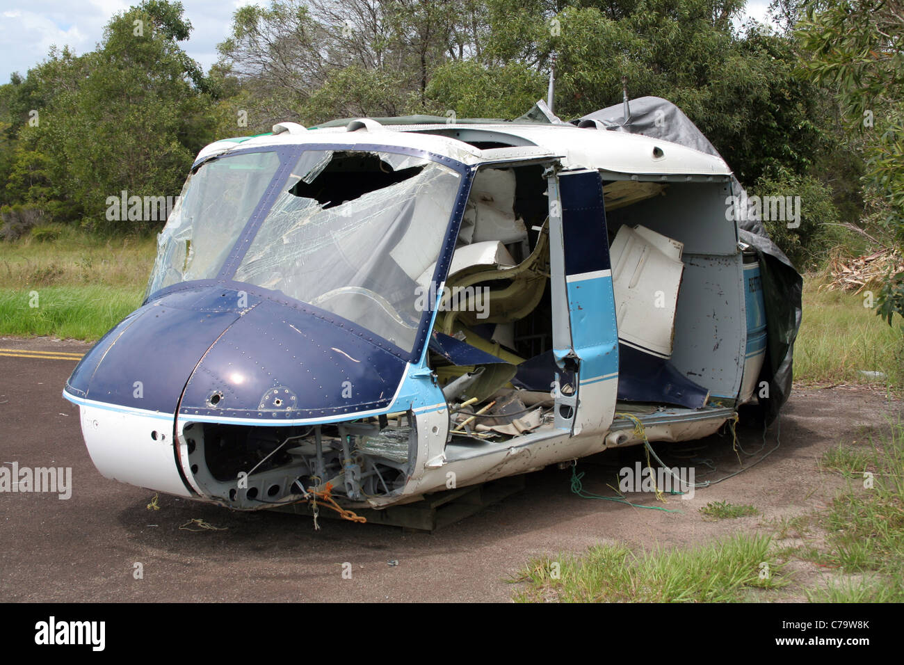 Wrecked Helicopter Stock Photos & Wrecked Helicopter Stock