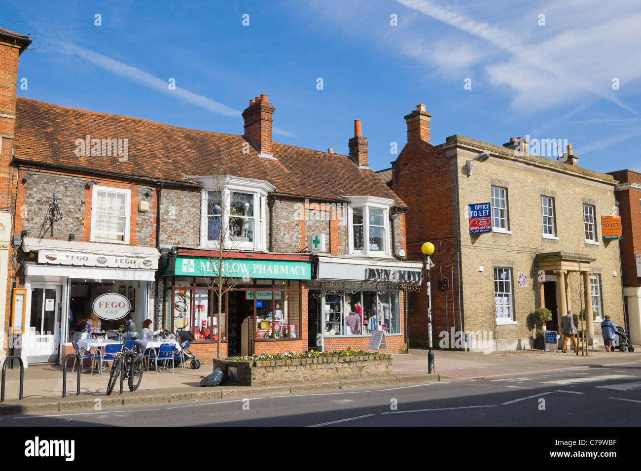 High Street, Marlow, Buckinghamshire, England, UK Stock Photo