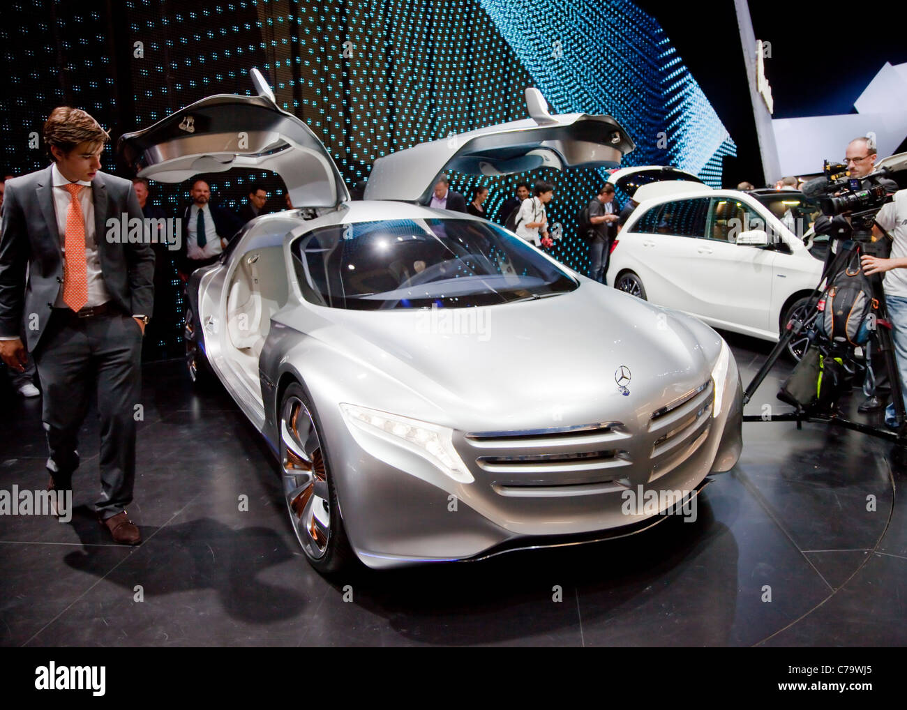 New Mercedes Benz Concept Car F125 on the IAA 2011 International Motor Show Frankfurt, Germany Stock Photo