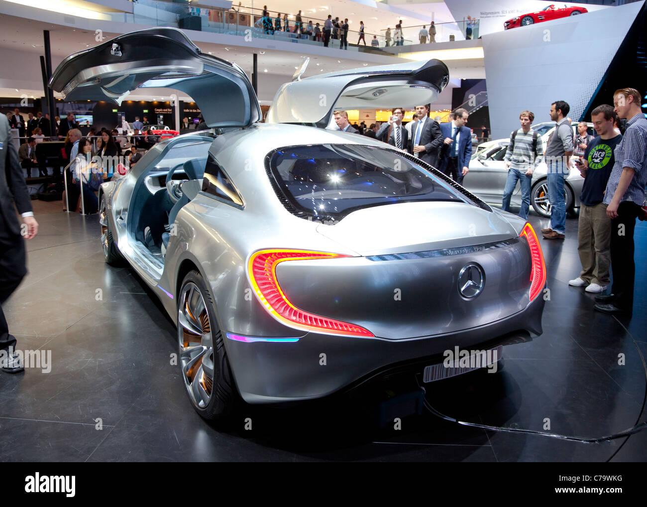 New Mercedes Benz Concept Car F125 on the IAA 2011 International Motor Show Frankfurt, Germany Stock Photo