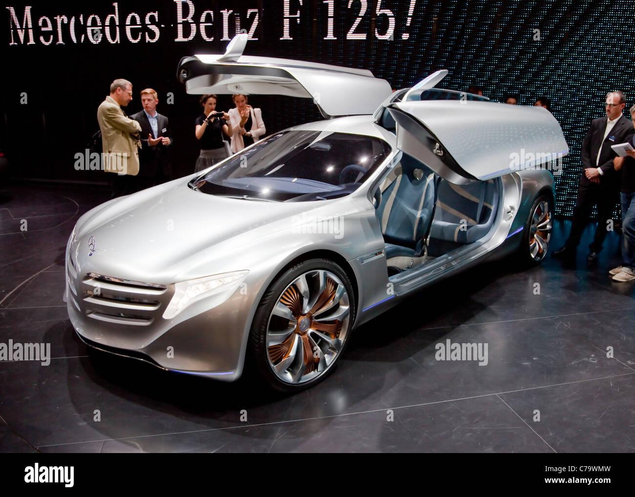 New Mercedes Benz Concept Car F125 on the IAA 2011 International Motor Show Frankfurt, Germany - Stock Image