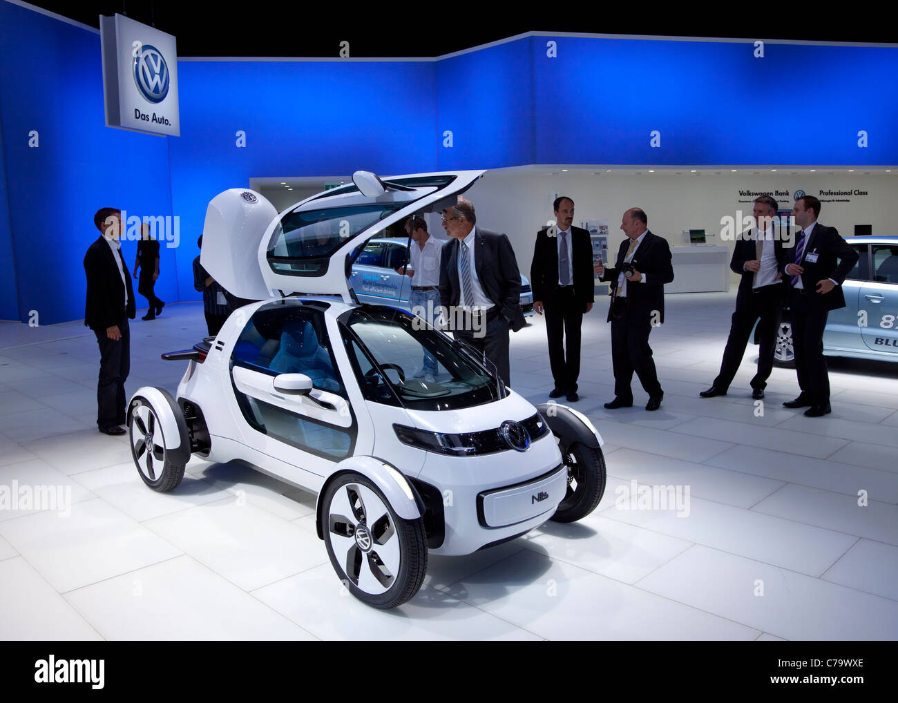 VW Volkswagen e-car Nils on the IAA 2011 International Motor Show in Frankfurt am Main, Germany - Stock Image
