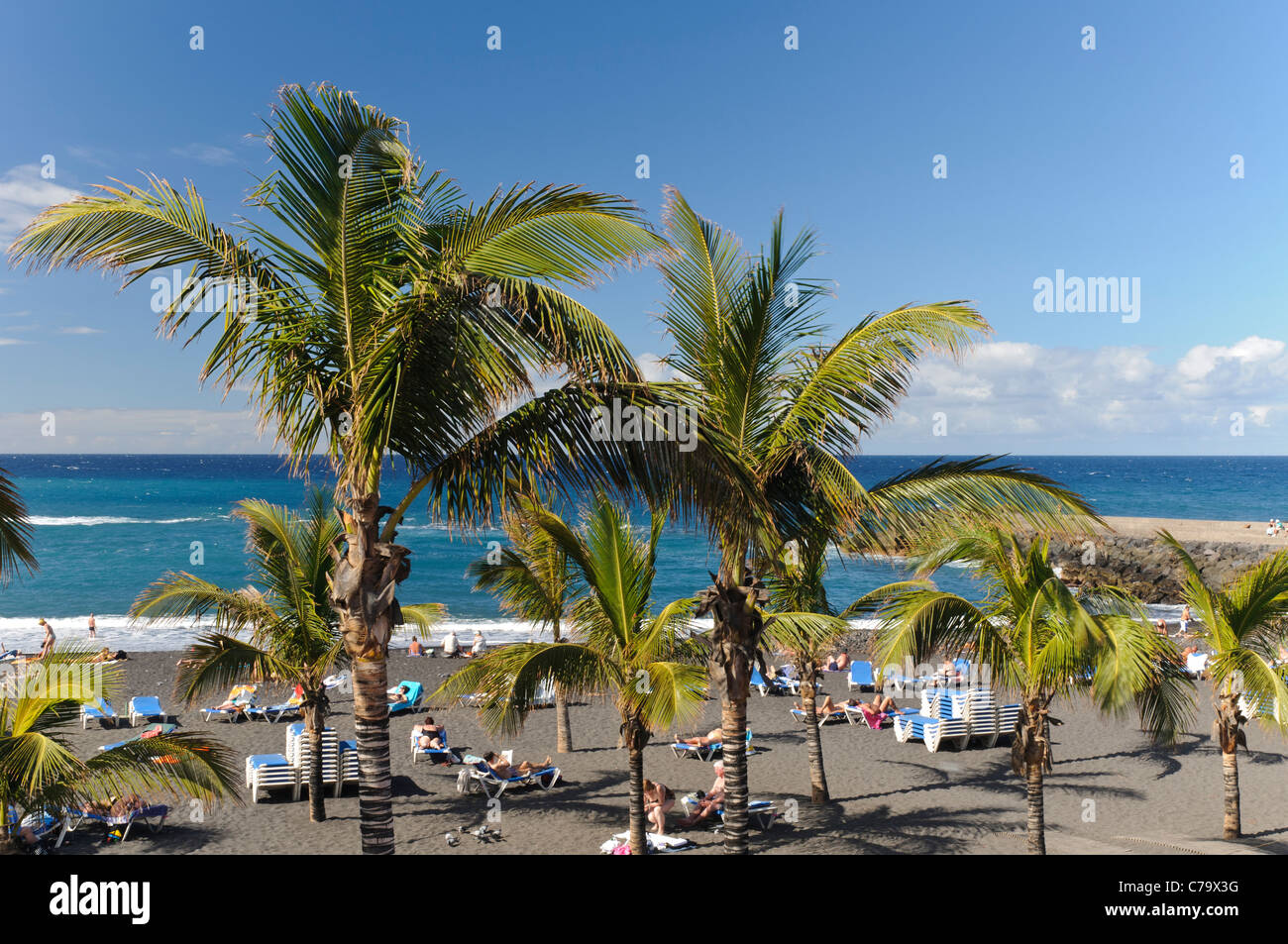 Playa jardin beach puerto de la cruz tenerife canary islands stock photo 38941380 alamy - Playa puerto de la cruz tenerife ...