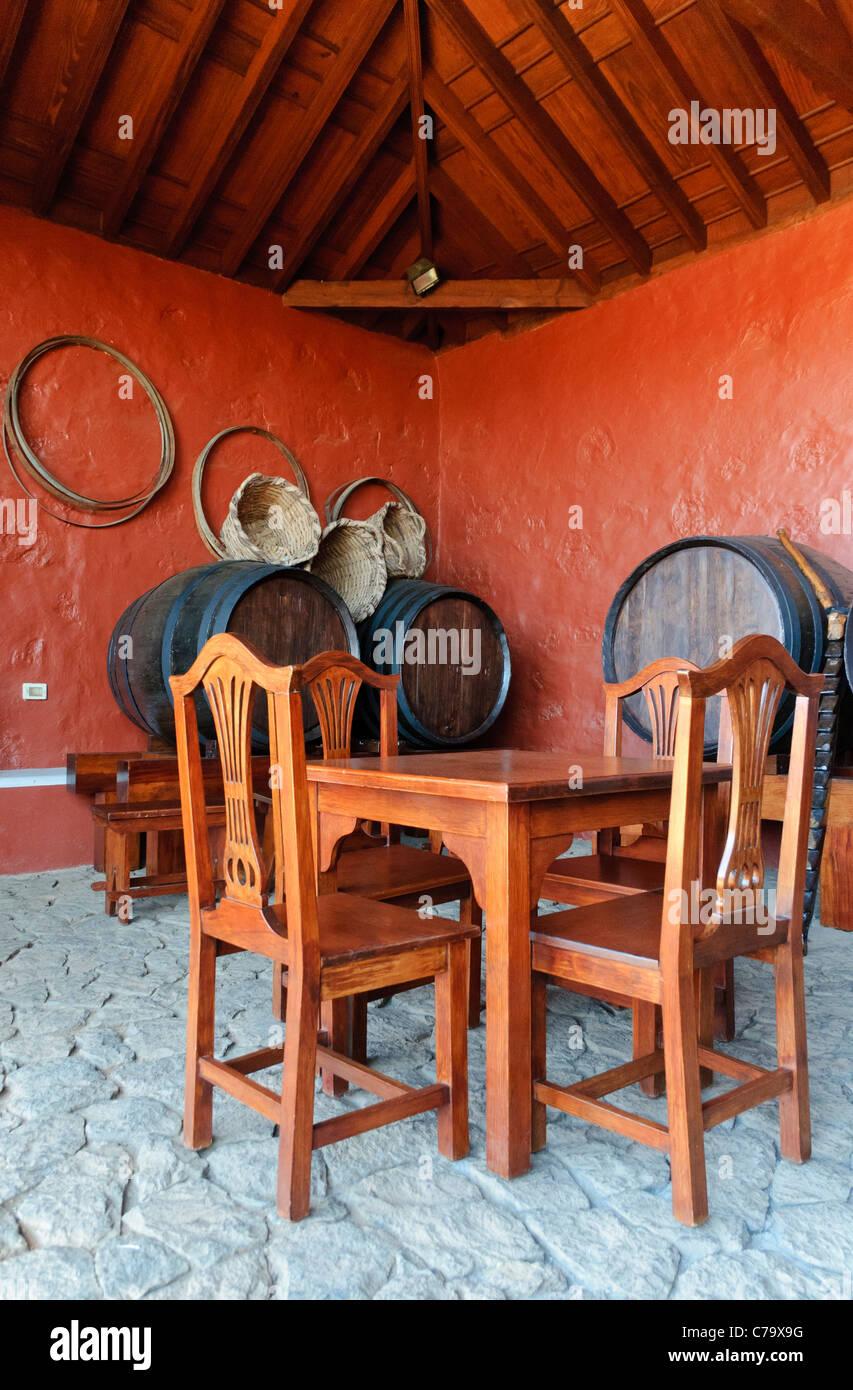 Casa del Vino La Baranda, Wine Museum, former farmhouse in a traditional Canarian architecture, El Sauzal, Tenerife, - Stock Image