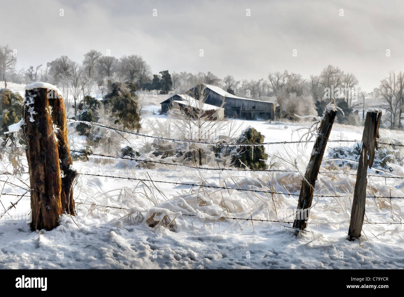 Indiana Farm In Winter Stock Photos & Indiana Farm In Winter Stock ...