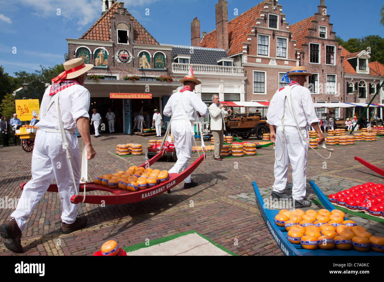 Edam Cheese Market - Stock Image