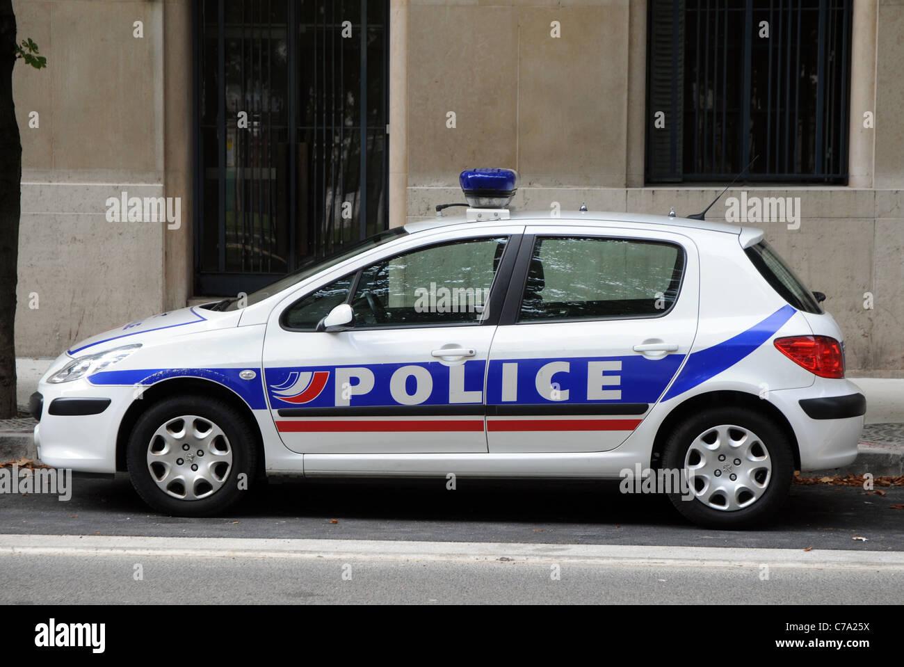 Peugeot 307 Police Car In Lyon France Stock Photo 38944582 Alamy