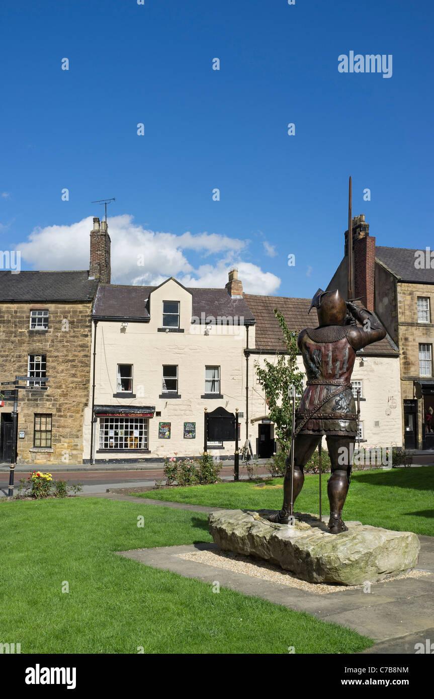 Hotspur statue in Alnwick Northumberland - Stock Image