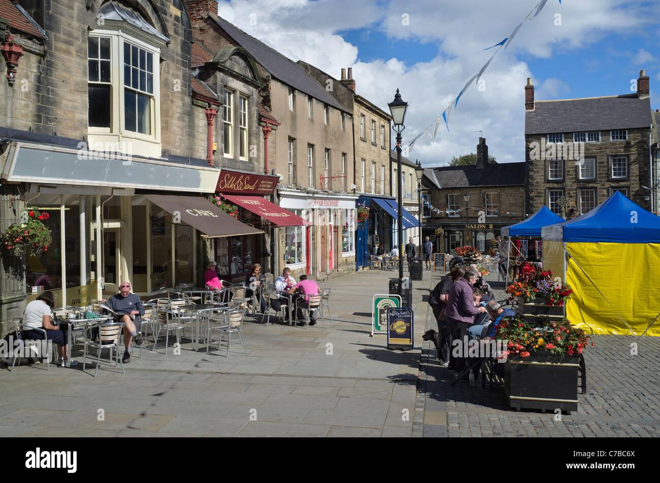 Alnwick Market Square - Stock Image