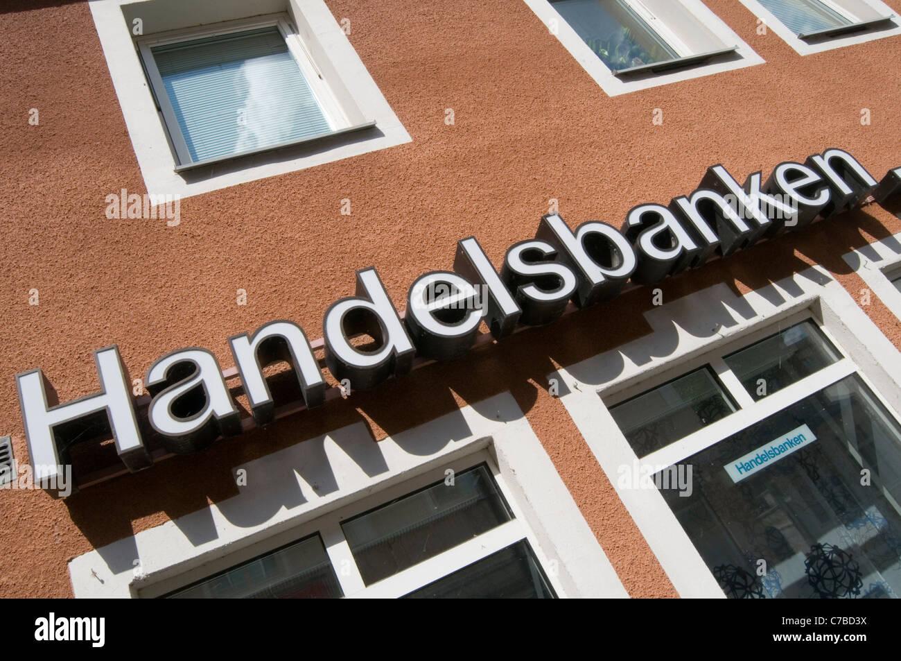 handlesbanken Svenska swedish bank banks high street highstreet banking sweden - Stock Image