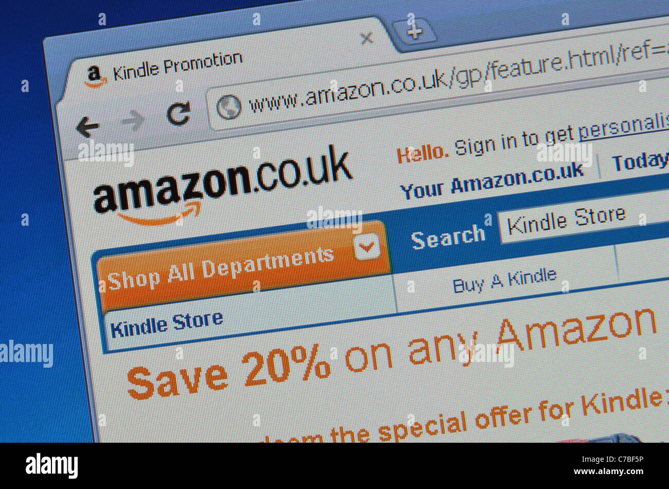Amazon website screenshot - Stock Image