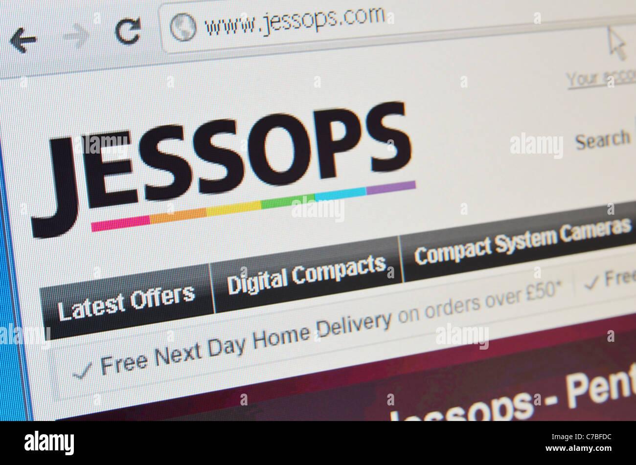 Jessops website screenshot - Stock Image
