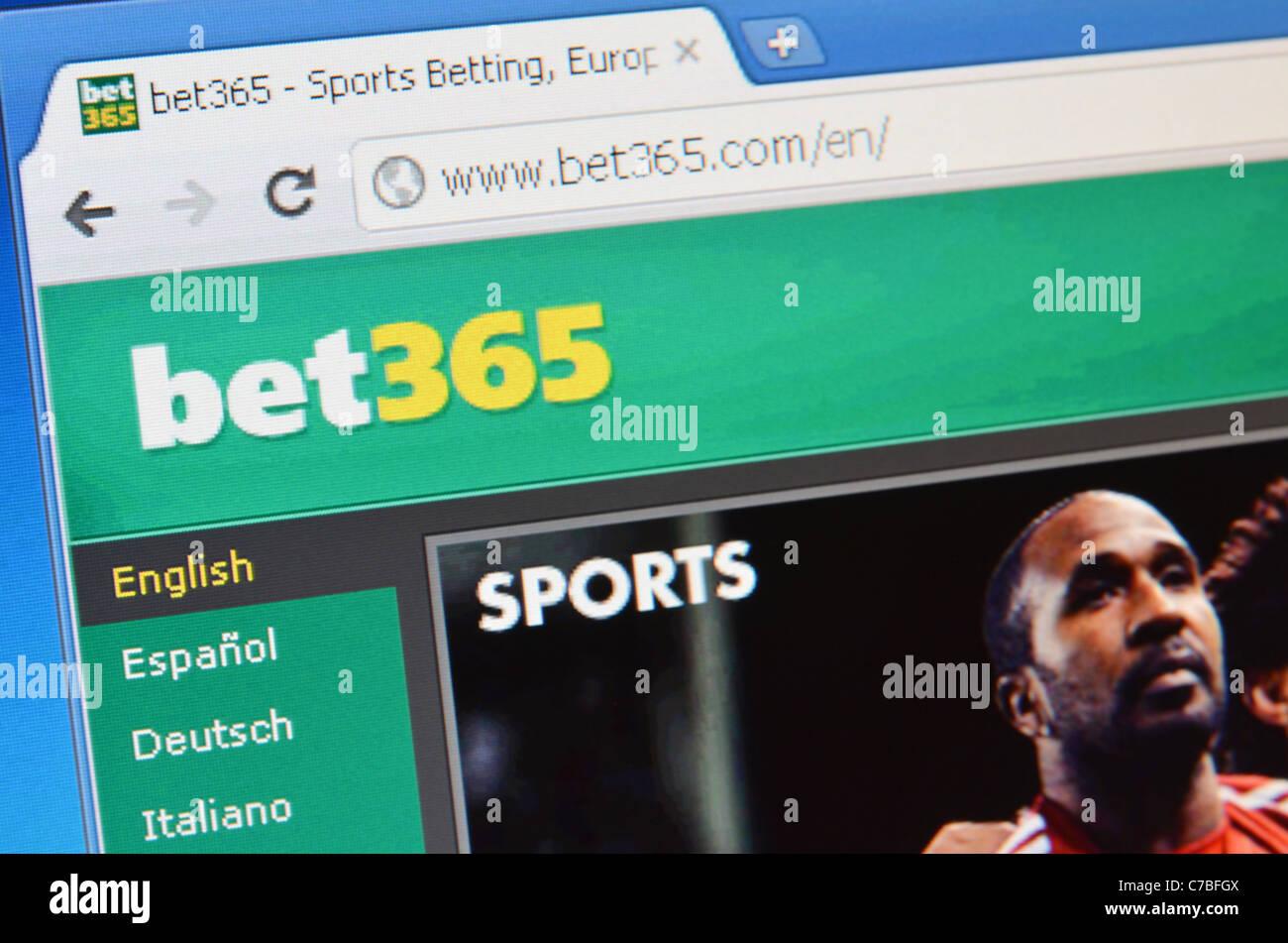 bet365 website screenshot - Stock Image