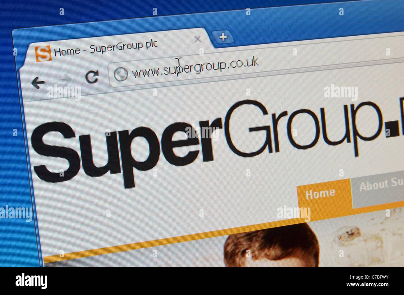 Supergroup website screenshot - Stock Image
