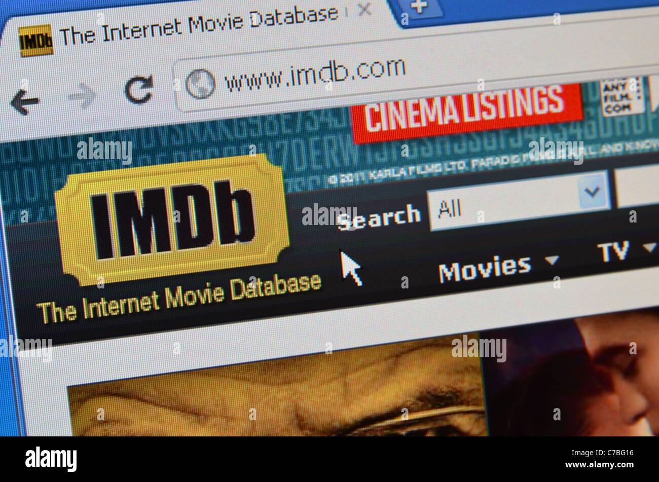 IMBD website screenshot - Stock Image