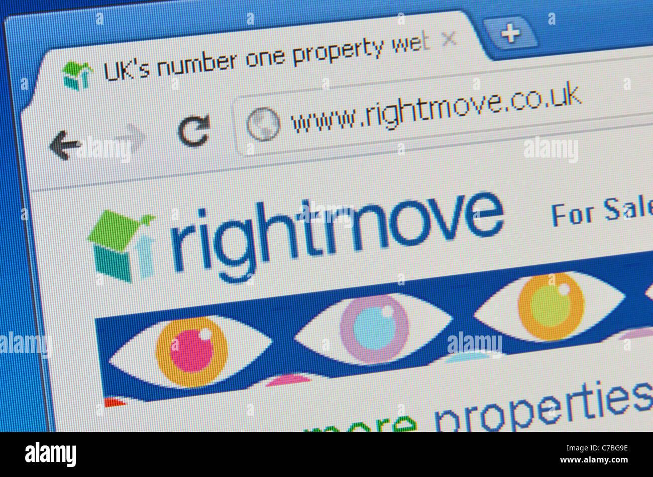 Rightmove website screenshot - Stock Image