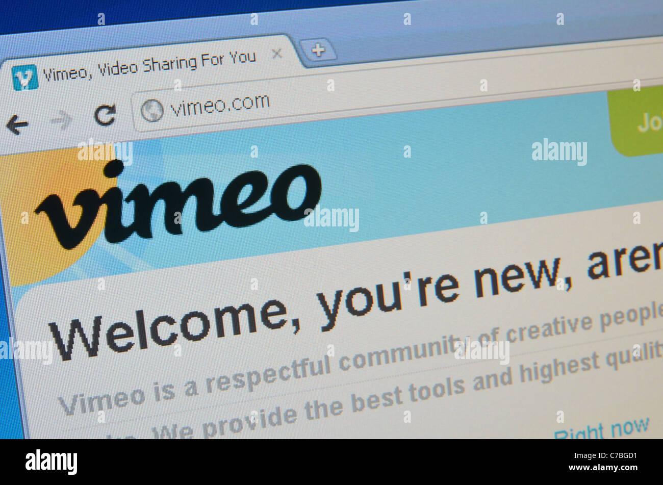 Vimeo screenshot - Stock Image