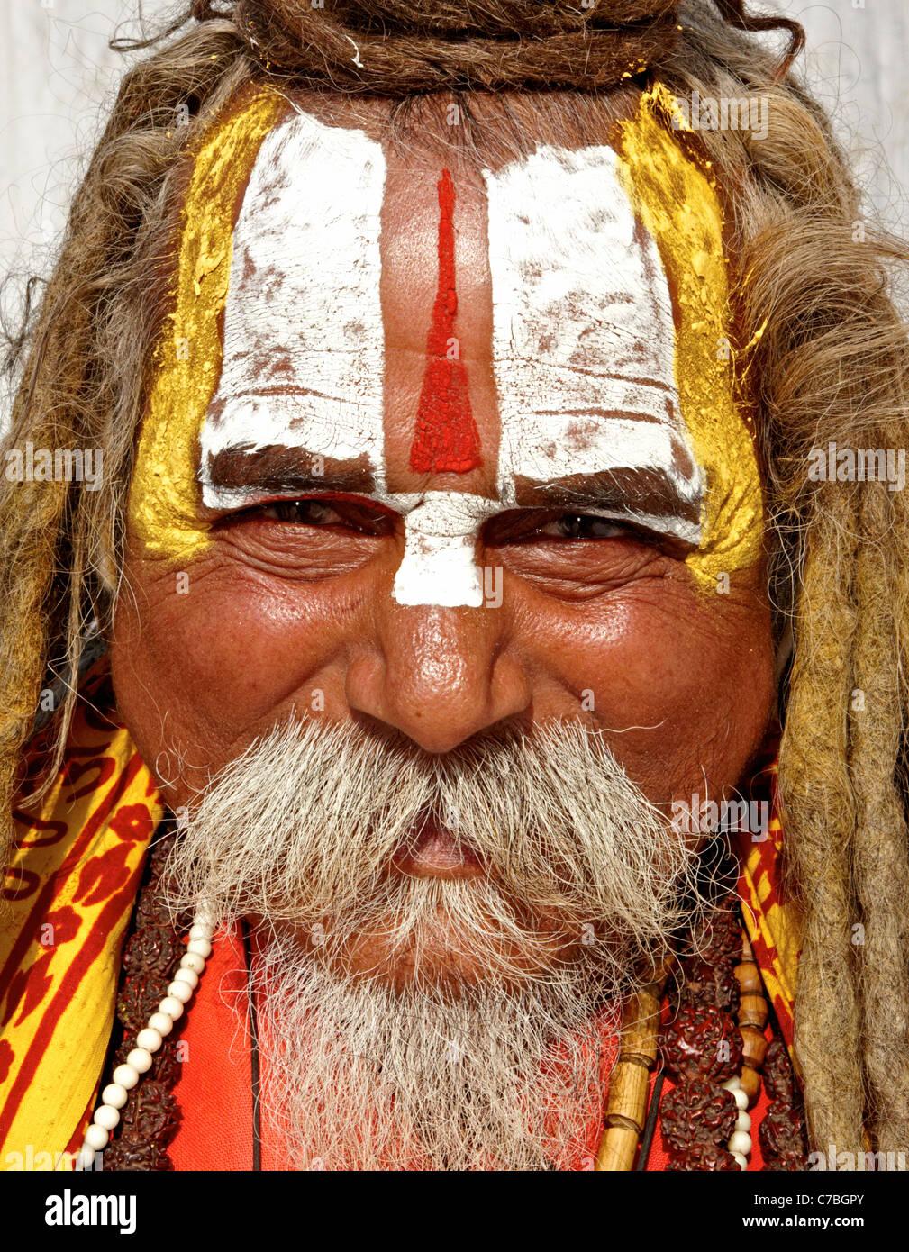 Indian Sadhu Durbar Square Kathmandu  Nepal Asia Stock Photo
