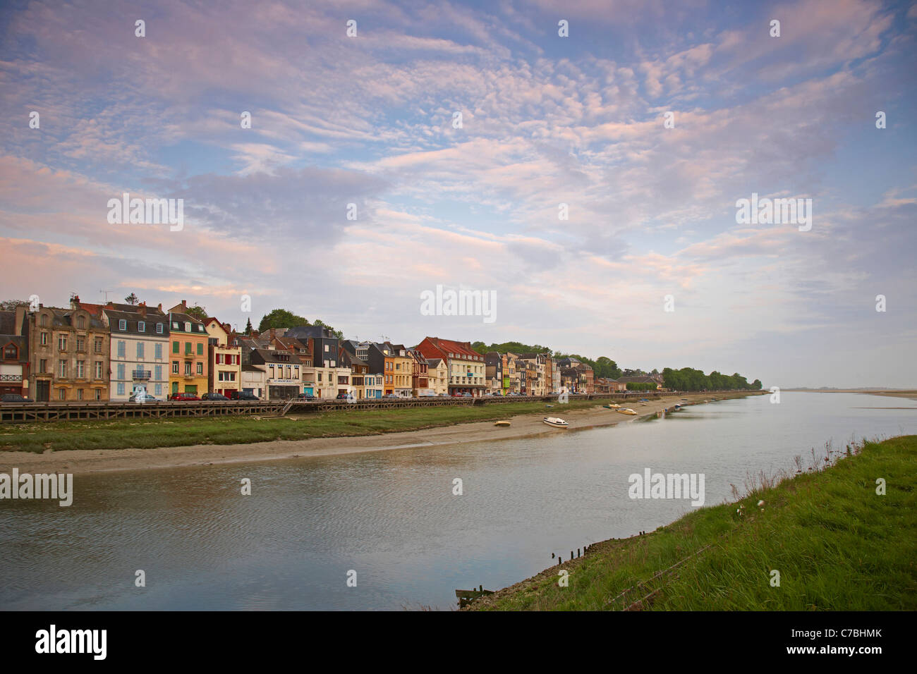 Early morning at Saint-Valery-sur-Somme, Dept. Somme, Picardie, France, Europe - Stock Image