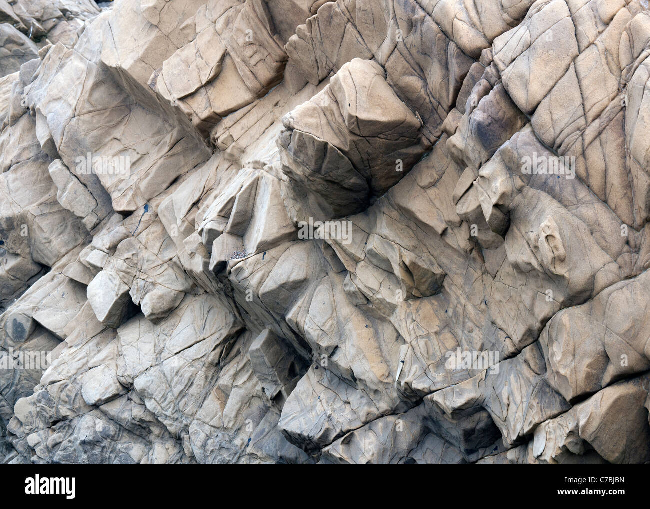 Jagged Cliff side - Stock Image